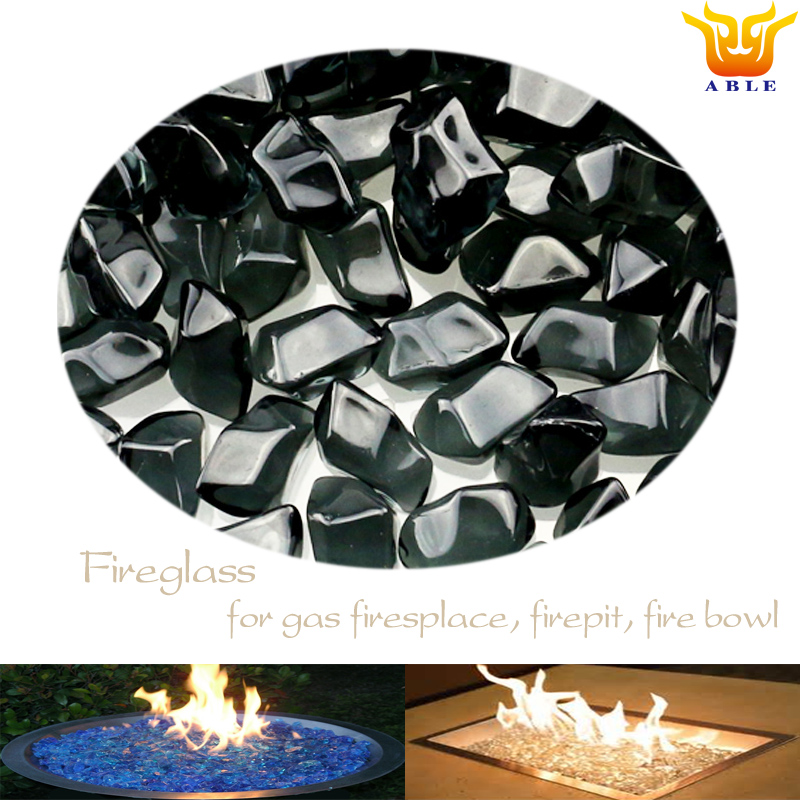Pit fire stone Gas fire glas