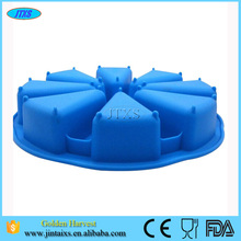 Promotional Customized 8 Portion Silicone Cake Mold for Individual Slices