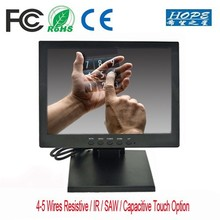 "High resolution tft 10"" inch VGA D-SUB USB RCA touch screen lcd monitor"