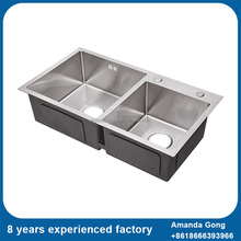 Double Bowl Stainless Steel Kitchen Sinks with 3mm thickness surface