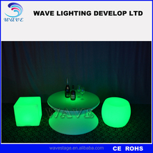 Popular Bar Nightclub Party wedding Glowing LED Cocktail Table/Glowing LED bar table