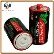 Dependable performance Size D pcv jacket 1.5v dry cell battery