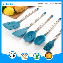 Best selling colorful kitchenware heat resistant food grade royal kitchen set
