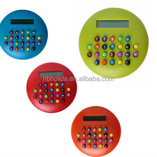 8-digit promotional gift calculator, round calculator (color button)/ HLD-602