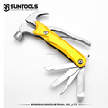 New Multi-function 6 in 1 stainless steel Outdoor camping claw hammer