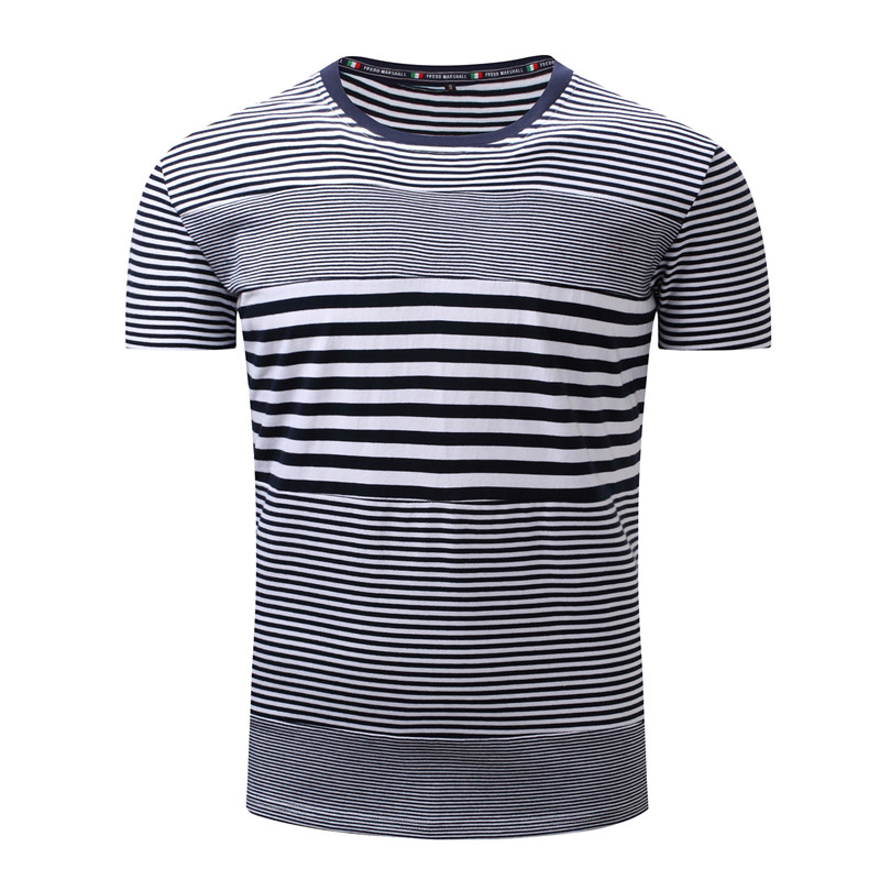 180G 100% cotton mens stripe t shirts in good quality/fashion clothing new design tee-shirts buyer in usa