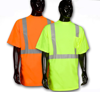 2016 hot sale cheap yellow or orange Hi Vis Safety T shirt