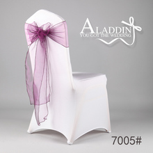 High quality burgundy organza chair sashes for chair decoration wedding decor
