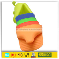 high temperature heat resistant bbq silicone gloves ,silicone oven mitt with 5 fingers