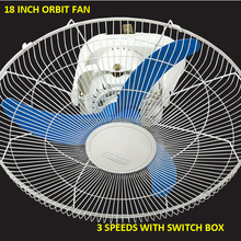 18 inch orbit ceiling fan wall mounted plastic blade electric fan