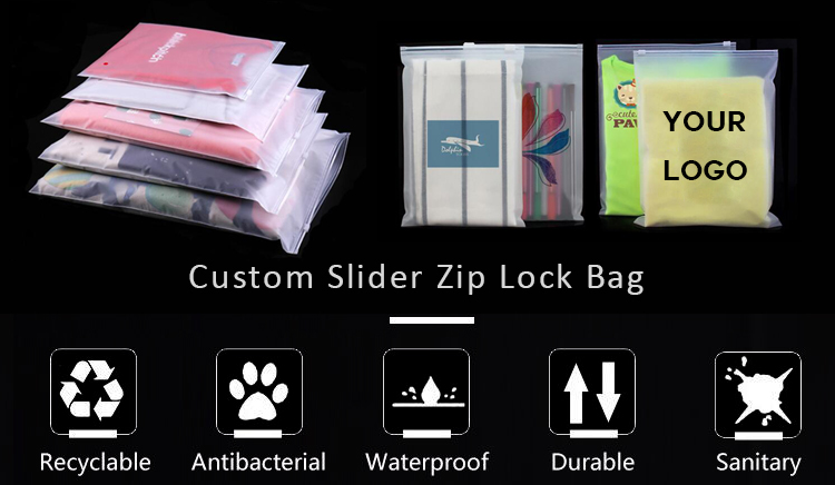 "custom 20*25cm/8""x10"" printed Design durable zip lock transparent plastic bags"