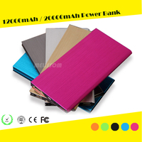 2015 new hot sale Ultra slim power bank with 10000mah polymer batteries and OEM logo from China supplier