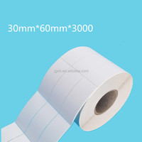 cosmetic preprinted barcode roll label paper automatic