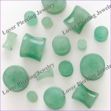 [SE-S472A] Best Sales High Quality Natural Aventurine Stone Ear Plugs Piercing Jewelry