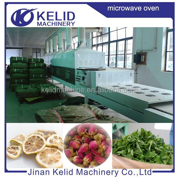 High efficient tunnel conveyer Microwave dryer