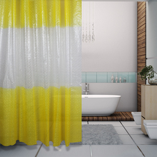 customized 3d color changing peva light shower curtain liner