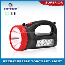 Portable Rechargeable Torch Light Emergency Flashlight led sensor lighting with hand hold sling