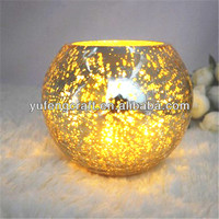 gold silver glass globes for lamps candle holders for weddings