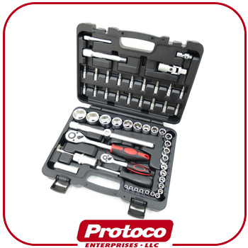 "2016 Taiwan Professional CR-V 58 Ratchet pcs1/2""&1/4""DR Bit Wrench Socket Set"