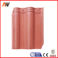 Ceramic material stone coated metal roof tile