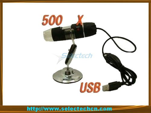 High Value 500X 2.0M With Measure tools and 8 LED lights usb digital microscope camera