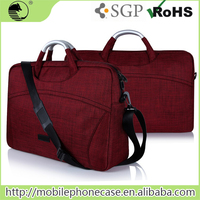 China Supplier Waterproof Polyester Laptop Case With Strap And Aluminum Handle