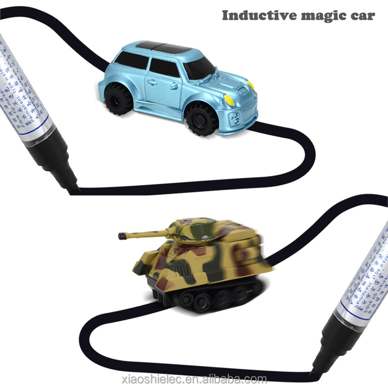 2017 Newest follow any drawn line operation magic pen inductive car Inductive Truck toys for kids