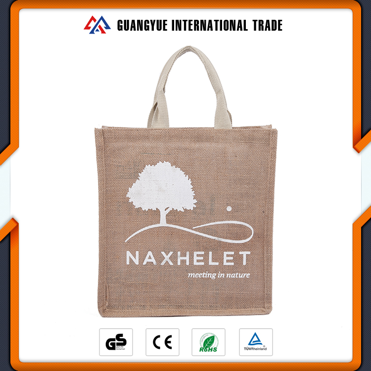 Guangyue Factory Promotional Eco-Friendly Customize Logo Linen Shopping Bags