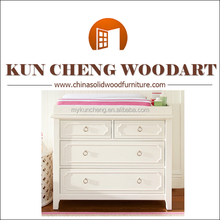 Kuncheng Product Solid pine wood baby furniture/White wooden baby change table