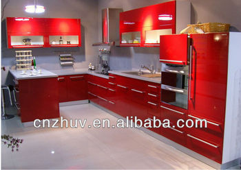 Kitchen Cabinets Mdf mdf kitchen cabinets. modern wood grain mdf kitchen cabinets op15