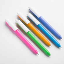 white clip clear cute fruits color frosten dull polish surface plastic ball pen advertising