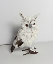 2015 wholesale high quality white feather owl
