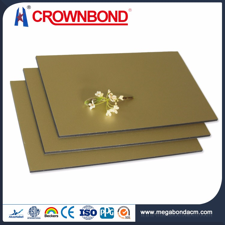 Crownbond High Strength PVDF/PE aluminium thickness 0.30mm 0.40mm panel