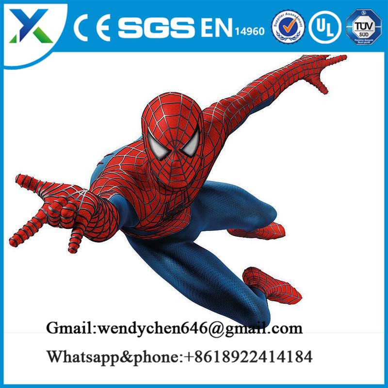 Inflatable cartoon characters giant inflatable spiderman model with factory price