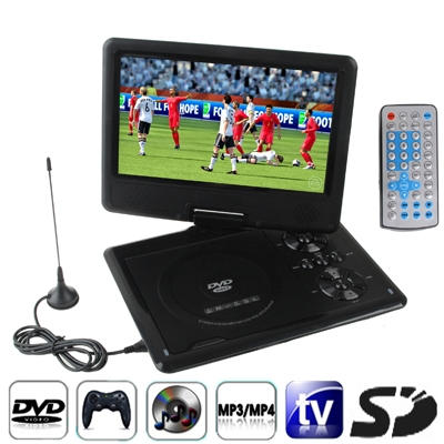 TFT LCD Screen Digital Multimedia Portable DVD with Card Reader & USB Port