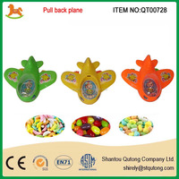 Candy toy 2015 best selling plastic pull back plane toy promotion popular in spain and arab country