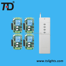 Long transmitter distance 4 RF Wireless Receiver+ 1 Remote Controllers 315 MHz - L,T,M Control