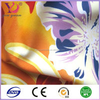 Polyester printed knitted strech power mesh fabric