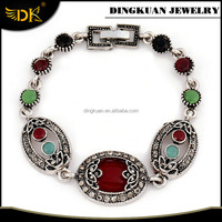 colorful stone chain bracelet alloy bracelets with names antique jewelry wholesaler