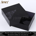 Hot Selling Custom Shape Black Acrylic Perfume Display Stand