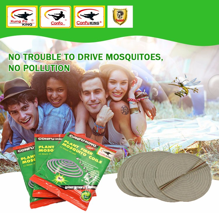 Daily Chemicals Low Smoke Best China Plant Fiber Mosquito Coil