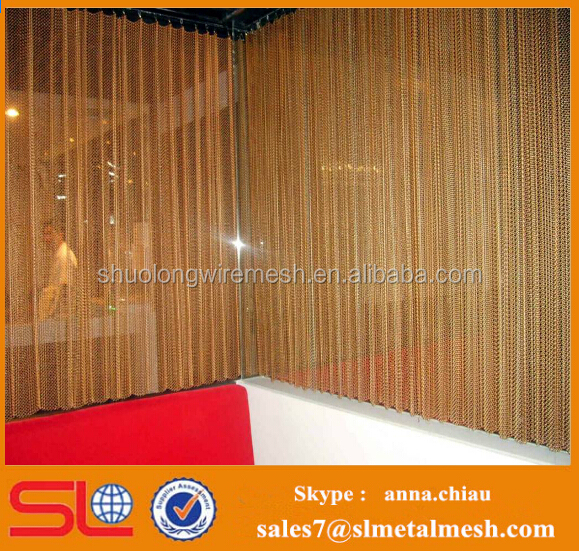 5% DISCOUNT Copper/ Brass decorative metal sliding curtains