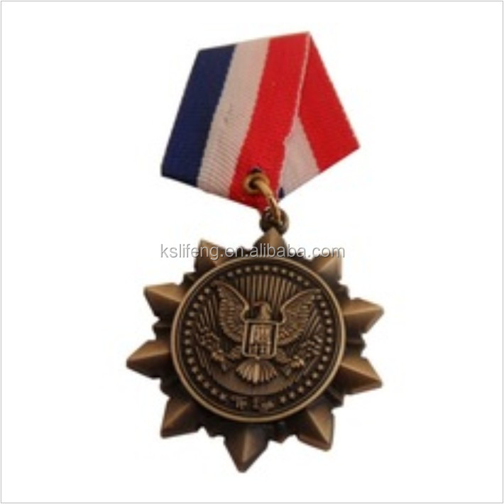 arts and crafts design gold ribbon coin medal