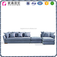 Home Functional Sectional Fabric Floor Recliner Ottoman Sofa
