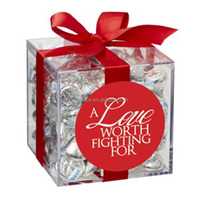 medium acrylic chocolate gift box with bow lindt truffles
