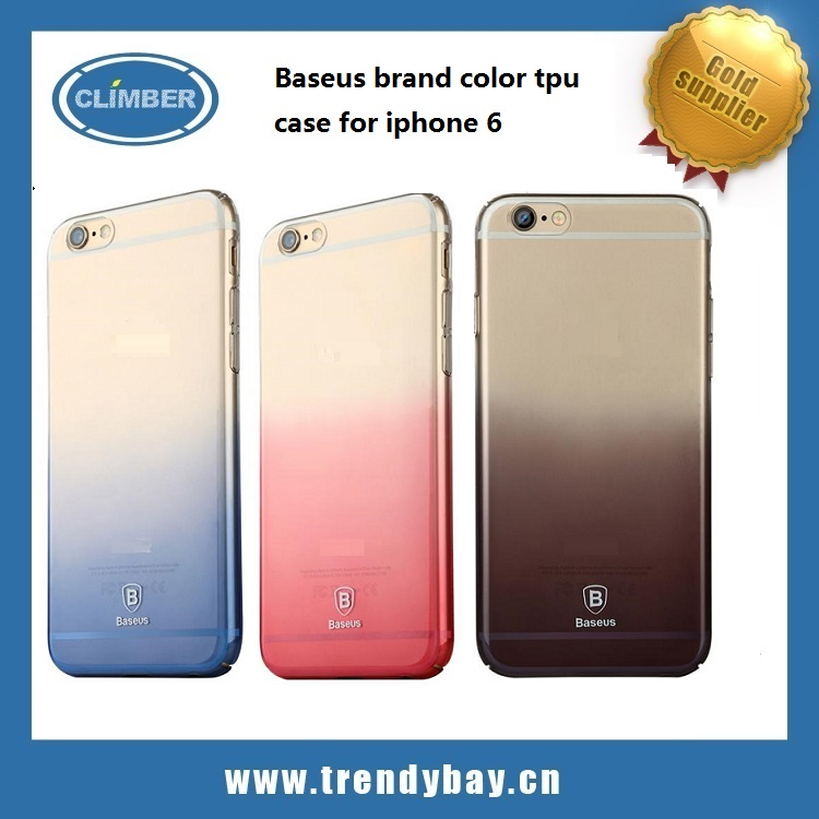 2016 wholesale hot sales color tpu baseus case for iphone 6