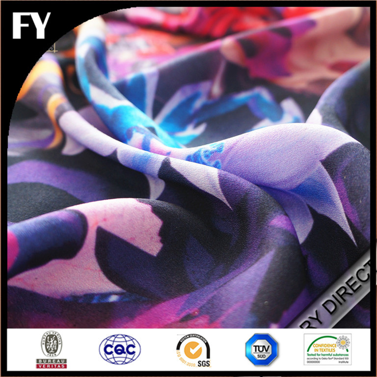 2015 Summer hot sale digital print breathable water resistant polyester fabric