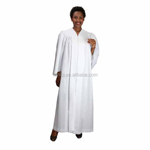 Church religious hopeful pure plain cotton baptismal robe