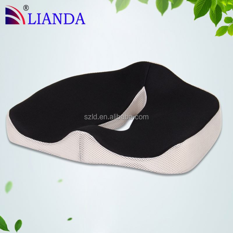 2015 new product third generation vibrating car seat cushions/ wedge seat cushion fill in memory foam CE certificate