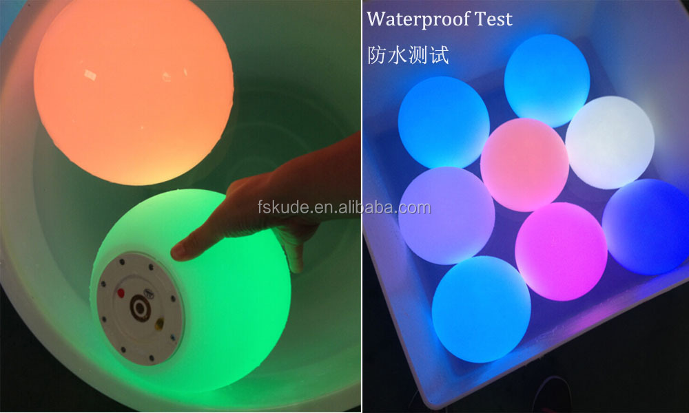 2017 KUDE Decorative outdoor LED Ball lighting IP65 globes made in China